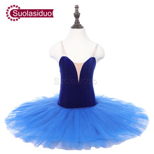 Girls Blue Professional Ballet Tutu Apperal The Nutcracker Performance Competition Ballet Dance Costumes Kids Ballet Skirt недорого
