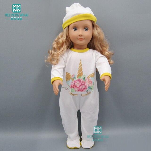Кукла Одежда для 45 см американские куклы и детские куклы аксессуары белый мультфильм комбинезон игрушки для детей
