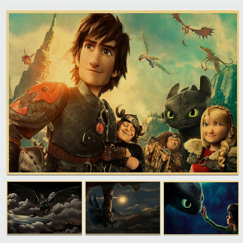 Retro Poster Dormitory-Decoration Wall-Decor Train Dragon For Home-Bar Cafe How Your