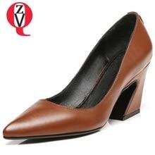 4a83806355 ZVQ 2018 novos respirável calçado zapatos mujer sólidos sapatos de salto  alto em ocasiões formais apontou toe bombas de sapatos .