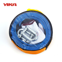 5M 8Tons Tow Cable Tow Strap Car Towing Rope With Hooks High Strength Nylon For Heavy