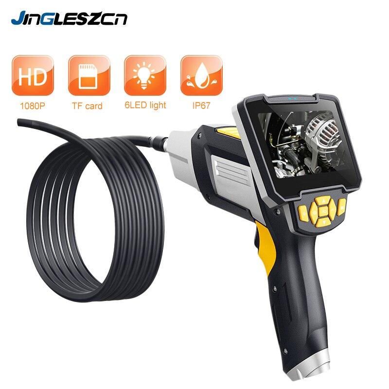 Endoscopio Digital Industrial 4,3 pulgadas LCD boroscopio Videoscope con Sensor CMOS cámara de inspección Semi-rígida endoscopio de mano