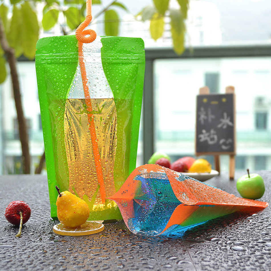 cola Originality drink pouch Juice drink diy Fruit and vegetable juice Stand up bottom packing bags reusa 12*20+4 12*23+4 100pcs