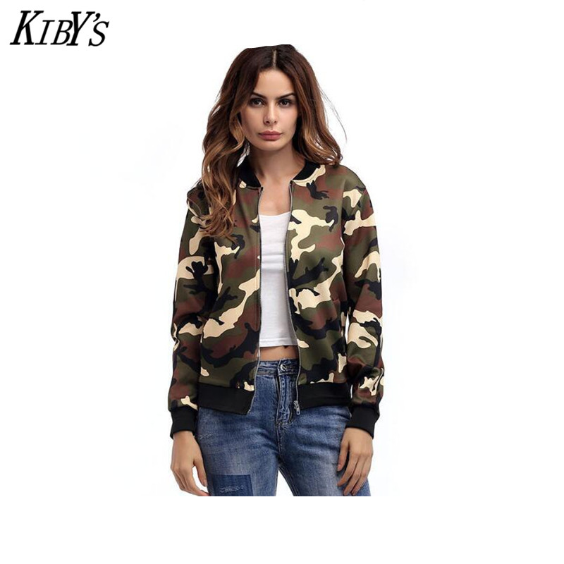 KIBYS Brand Autumn Jackets Women New Spring Jacket Female Camouflage Female Hoodie Fall Jackets For Women Coat Jacket Ladies