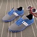 2016 известный дизайнер мужская летняя обувь воздухопроницаемой сеткой кроссовки air обувь Сети 46 47 48 большой размер