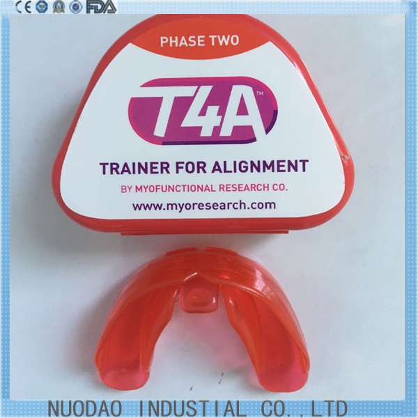 Original T4A red hard phase II Dental Orthodontic Appliances Myofunctional