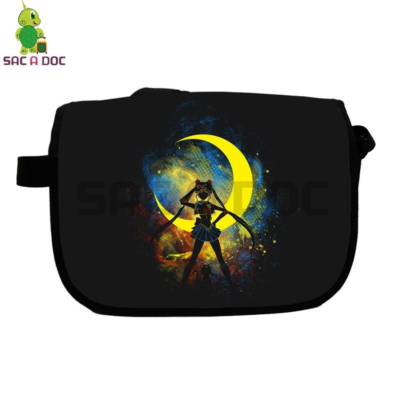 6743b1eb31d9 Aliexpress.com   Buy Anime Sailor Moon Shadow Printed Messenger Bag  Children School Bags Women Men Crossbody Handbag Casual Travel Shoulder Bags  from ...