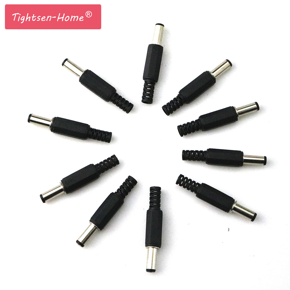 Wholesale 10pcs 5.5*2.1 DC Power Male Plug Adapter DC Jack Plug Jack Connector CCTV Cameras Socket Adapter factory Outlet 1pack 10pcs dc power connector pin 2 1x5 5mm female plug jack male plug jack socket adapter dc 022b