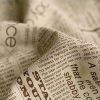 RUBIHOME (100x150 cm) In Tiếng Anh Thư Giấy Thiết Kế Cotton Linen Vải cho DIY May shipping Sofa Covers Trang Trí nội thất Materail