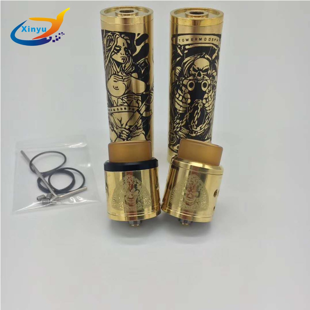 Neueste angekommen sob mod kit 18650 Batterie 24mm durchmesser Verdampfer Mechanische Mod e-zigarette kit vs Avidlyfe Mod und ROGUE mod