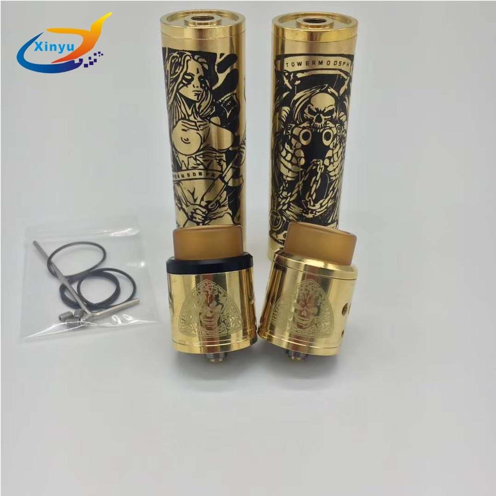 Nuevo llegado triste mod kit 18650 batería de 24mm de diámetro vaporizador Mod e-cigarrillo kit del Avidlyfe Mod y ROGUE mod