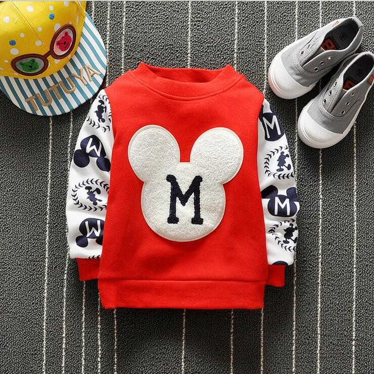 The new cartoon pattern fashion 0-2 year-old male and female baby long-sleeved clothes + free gifts 3