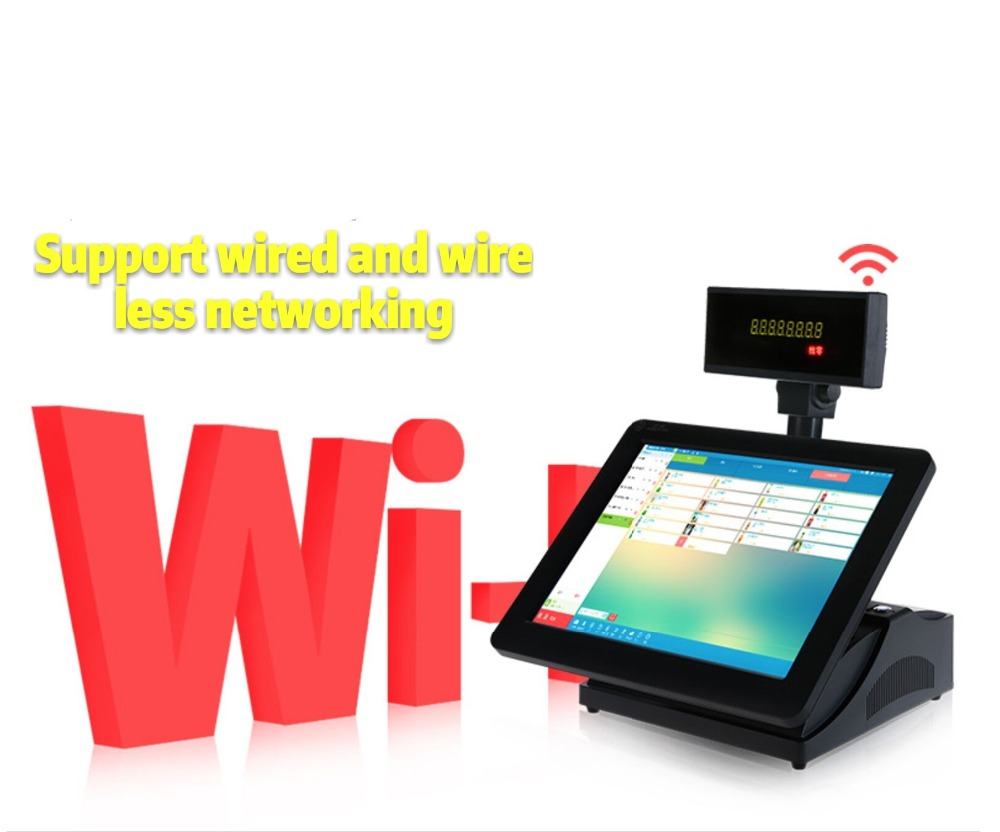 15 Inch 2 Touch Screen Restaurant Ordering System Pos System All In One