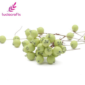Image 5 - Lucia crafts 50pcs/lot Mini Fake Fruit Berries Artificial Pomegranate Cherry Stamen Wedding Home Christmas Decorative A0601
