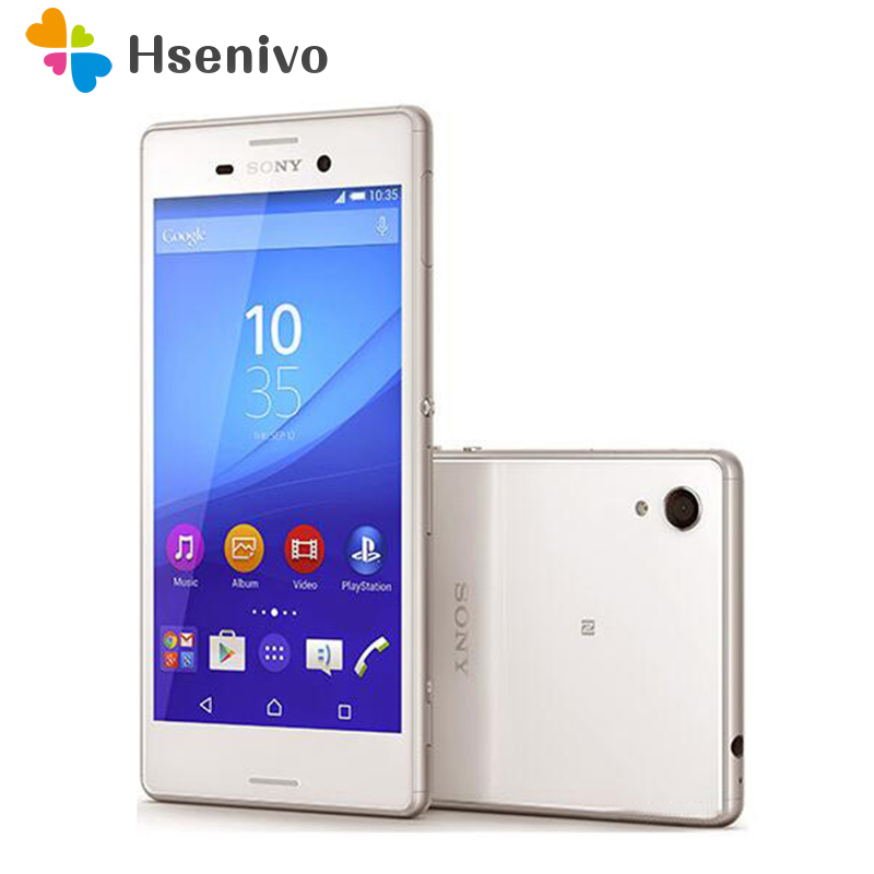 M4 Original Sony Xperia M4 Aqua Dual E2363 Dual Sim Original Phone Android 2G RAM 16GB ROM GPS Wi-Fi 5.0 Inch 2400mAh Battery