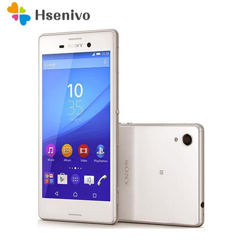M4 original sony xperia m4 aqua duplo e2363 sim duplo telefone original android 2g ram 16 gb rom gps wi-fi 5.0 polegada 2400 mah bateria
