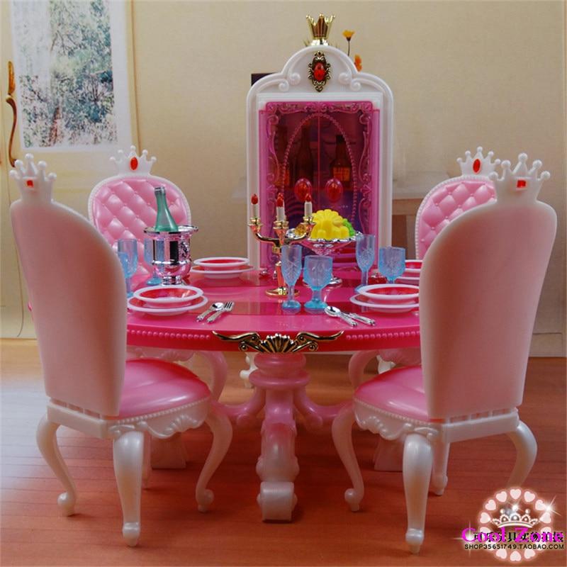 Miniatyrmøbler Prinsesse Spisesal -C for Barbie Doll House Pretend - Dukker og tilbehør - Bilde 5