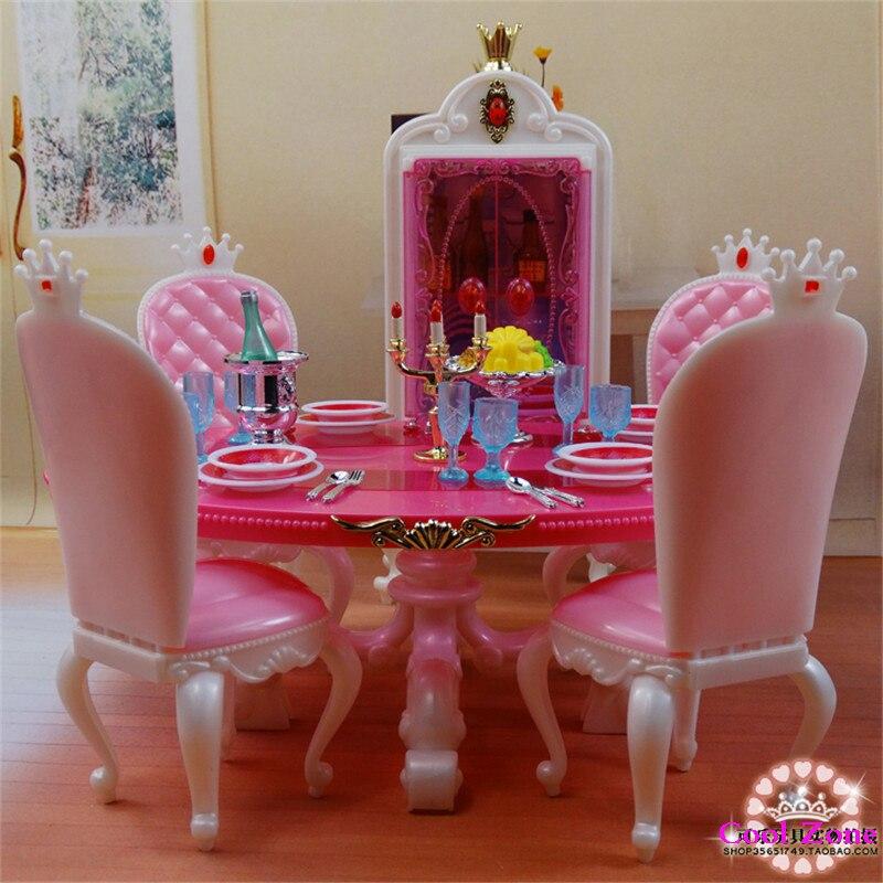 Miniature Meubles Princesse Salle À Manger C pour Barbie Poupée ...