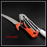 High Branch Shears Telescopic Rods Pruning Scissors Garden Tools Iron Head Saw Rope No Rod
