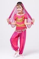 S M L XL Cute Oriental Indian Children Belly Dance Set 3 5 7Pieces Kids Girls