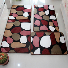 ソフトバスセット吸水バスルームカーペット敷物浴室マット自宅のドアフロアマットトイレ非スリップ