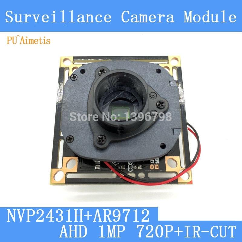 """1 Мегапиксельная 1280*720 AHD Камеры ВИДЕОНАБЛЮДЕНИЯ Модуль Плате, 1/4 """"CMOS NVP2431H + OV9712 + HD ИК-двойной переключатель фильтра"""