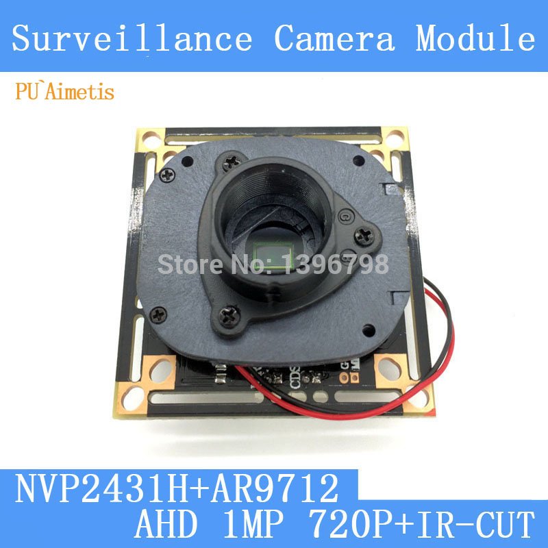 PU`Aimetis 1MegaPixel 1280*720 AHD CCTV Camera Module Circuit Board , 1/4