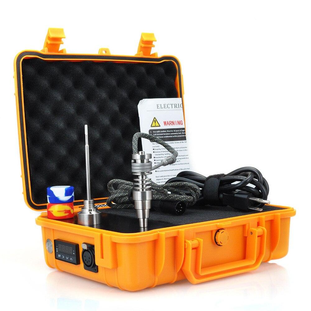 Boîtier étanche électrique titane clou Enail e-nail baril bobine 16 20 MM FPTX, Orange ou noir clou boîte ensemble