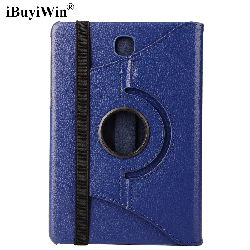 360 Degree Rotating Case for Samsung Galaxy Tab A 8.0 T350 T351 T355 Tablet PU Leather Case Folding Stand Flip Cover+Screen Film 360 rotary flip open pu case w stand for 10 5 samsung galaxy tab s t805 white