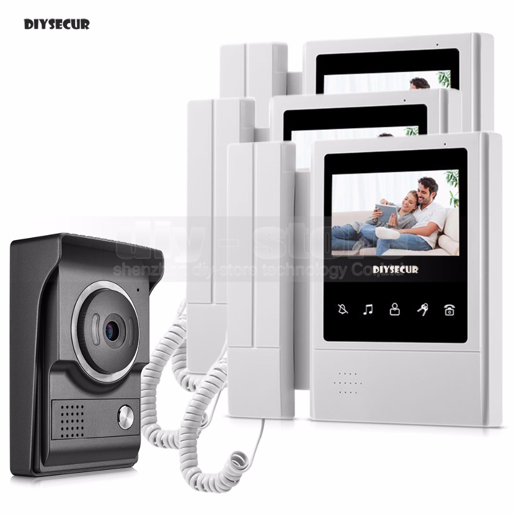 DIYSECUR 4.3inch Handheld Video Intercom Video Door Phone 700TV Line IR Night Vision HD Camera For Home Office Factory New 1V3