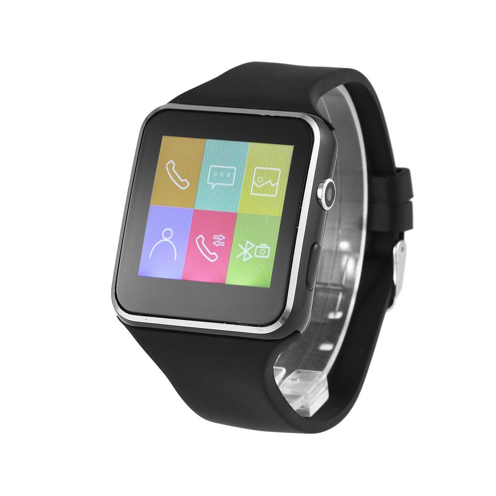 New Fashion Wireless Bluetooth Smart Watch 1.54 Inch X6 Wristwatch With 1.3MP Camera & Rubber Watch Band For IOS For Android