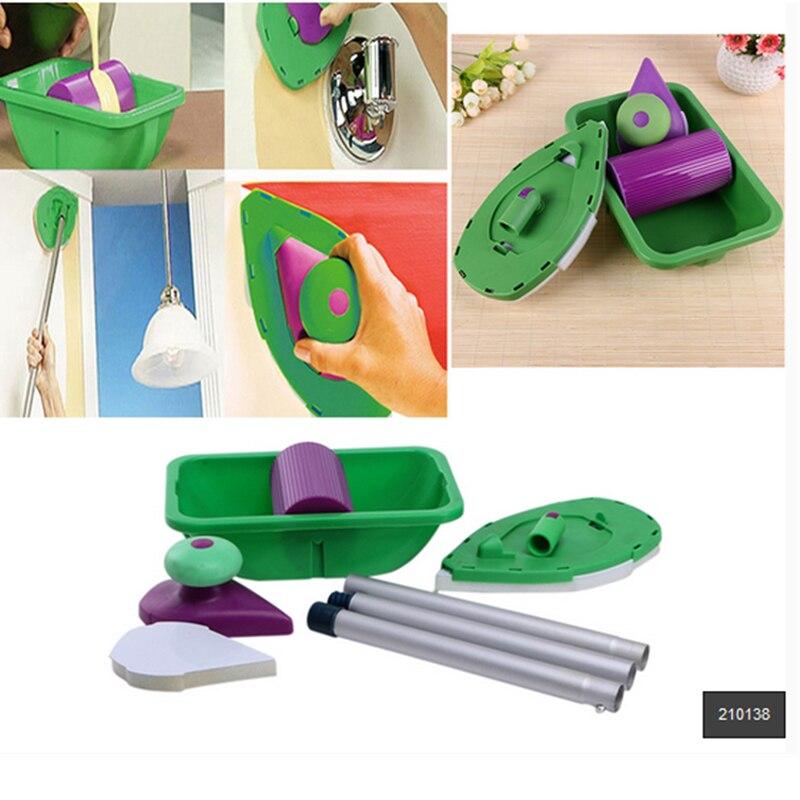 9 piezas rodillo de decoración de la pared hogar pintura decorativa herramientas rodillo de pintura para la decoración de la pared Dropshipping