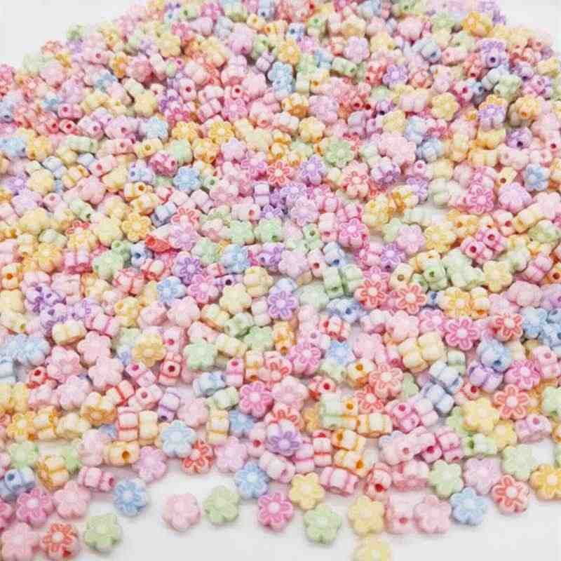 Flower Animal Bead 50/100pcs Cheap Fashion Acrylic Beads DIY for Making Bracelet Necklace Handmade Jewelry Accessories Wholesale