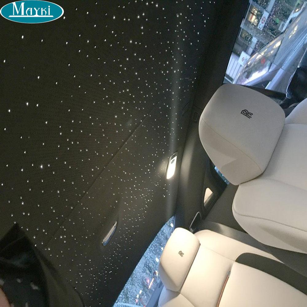 Maykit Safe Car Ceiling Star Light Kit 16W Led Light Source & 288pcs 3M End Lit PMMA Fiber Optic Cable Vehicle Design Decoration