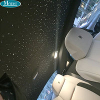Maykit Safe Car Ceiling Star Light Kit 16W Led Light Source & 288pcs 3M End Lit PMMA Fiber Optic Cable Vehicle Design Decoration
