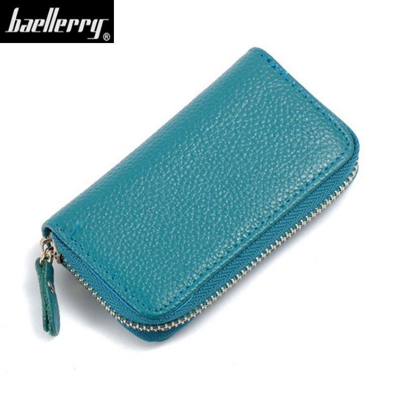 Bag Wallets Keychain Case Key-Holder Credit-Card Housekeeper-Organizer 6-Key-Rings Genuine-Cow-Leather