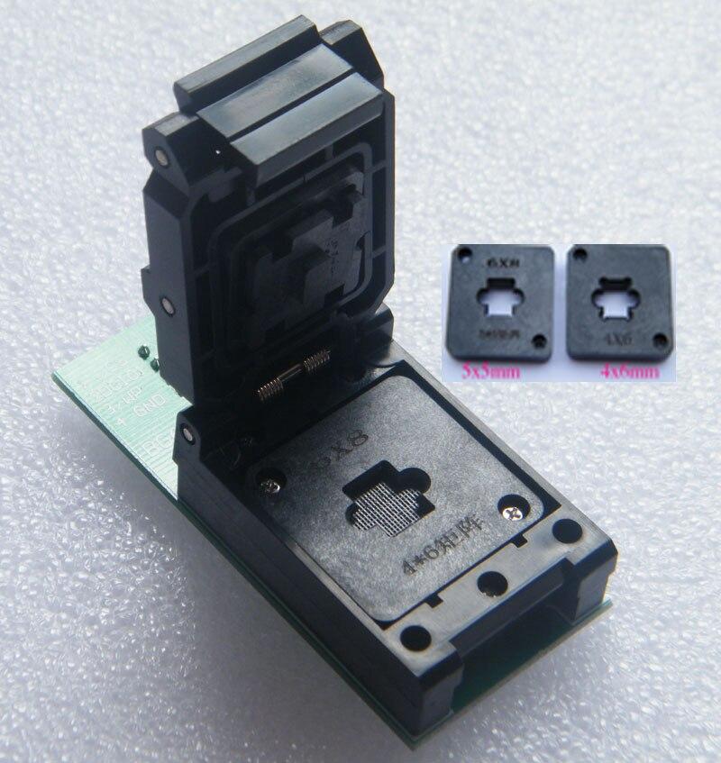 BGA24 à DIP8 BGA24 tour DIP8 programmeur prise ic taille 6*8 MM deux 6*4 MM 5*5 MM matrice IC adaptateur nouveau ORIGINAL