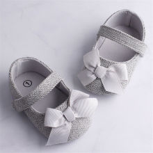 Emmababy обувь для маленьких девочек с бантом и нескользящей мягкой подошвой; обувь для малышей; обувь для маленьких девочек 0-18 месяцев; 3 цвета