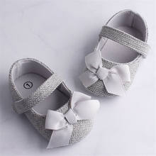 Emmababy infantil sapatos da menina do bebê bowknot antiderrapante macio sole gancho primeiros caminhantes da criança infantil bebê menina crianças sapatos 0-18m 3 cor