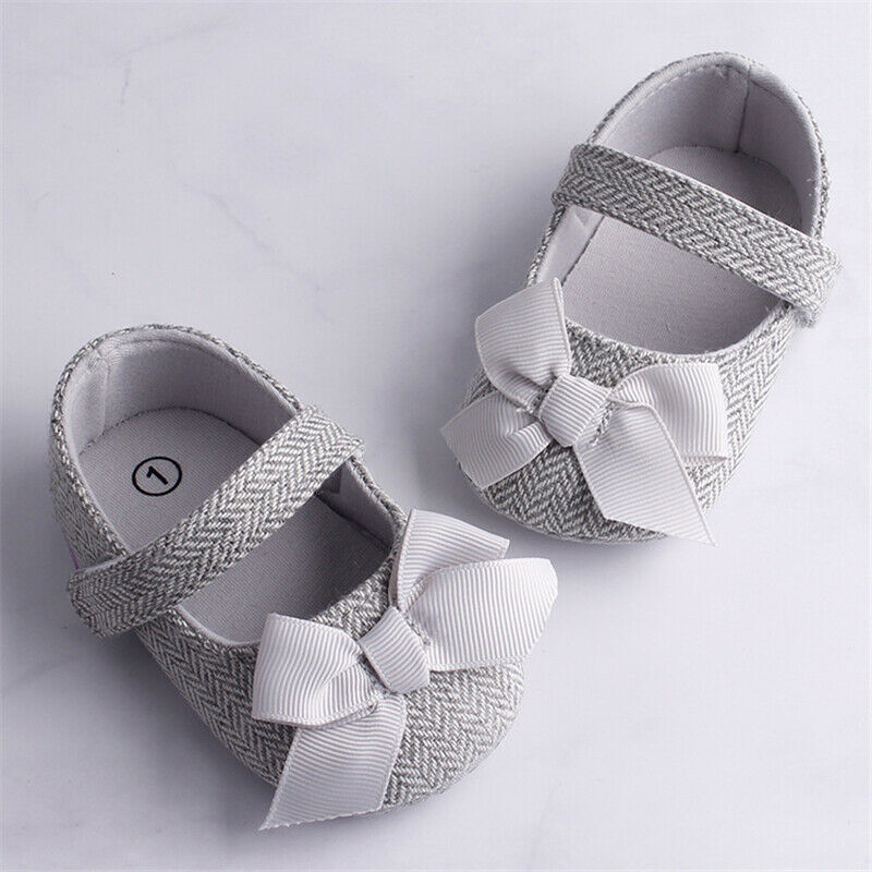 Emmababy Infant Baby Girl Shoes Bowknot Anti-Slip Soft Sole Hook First Walkers Toddler Infant Baby Girl Kids Shoes 0-18M 3 Color image