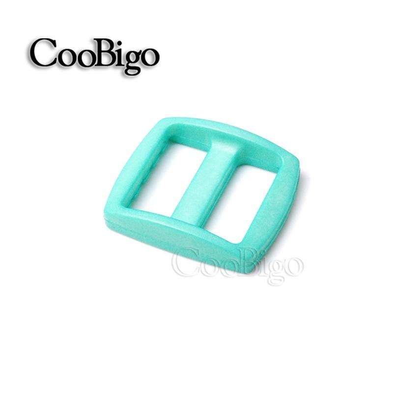"""10 шт Упаковка многоцветные пластиковые изогнутые Tri Glide 3/""""(20 мм) слайдер лямки регулировать пряжки широкий стиль походный рюкзак ремни - Цвет: Turquoise"""