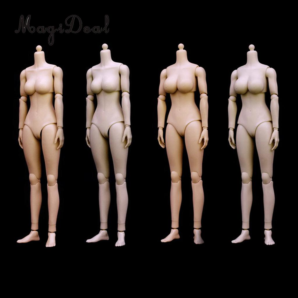 MagiDeal 1/6 Scale Female Girl Nude Body Large Bust for 12 Inch Action Figure Caucasian Hot Toys Model Dolls Acce Child Gift