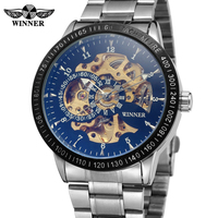Mens Watches top brand luxury WINNER Fashion Skeleton Clock Men Classic Sport Watch Automatic Mechanical Watch Relogio Masculino