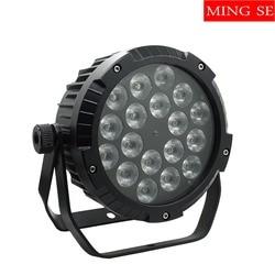 IP65 wodoodporna lampa par led 18x12W 4w1  18x15w 5w1  18x18w 6w1 sterowanie DMX512 profesjonalna scena DJ scena zewnętrzna światło|Oświetlenie sceniczne|   -