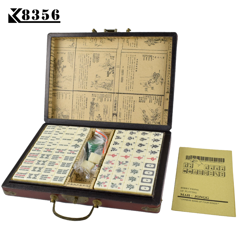 K8356 1Set Mini Chinese Antique Mahjong Games With English Instruction Four Wind Board Game 1.7*2.2*1.2cm  Wooden Box Majiang lifeboats board game puzzle cards games english chinese edition funny game for party family with free shipping
