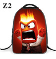 2016 Children's School Bag Inside Out Bookbag Cartoon School Bag Kids Cartoon Schoolbag Mochila For Boys Girls