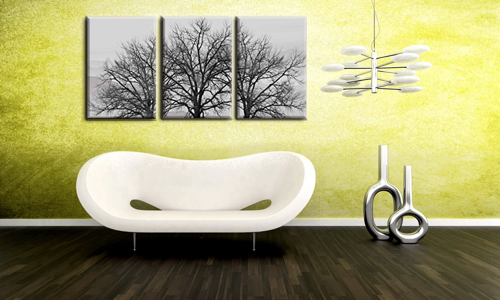 16x24inch 3 Pieces Frame Painting Canvas HD Print Dead Trees in ...
