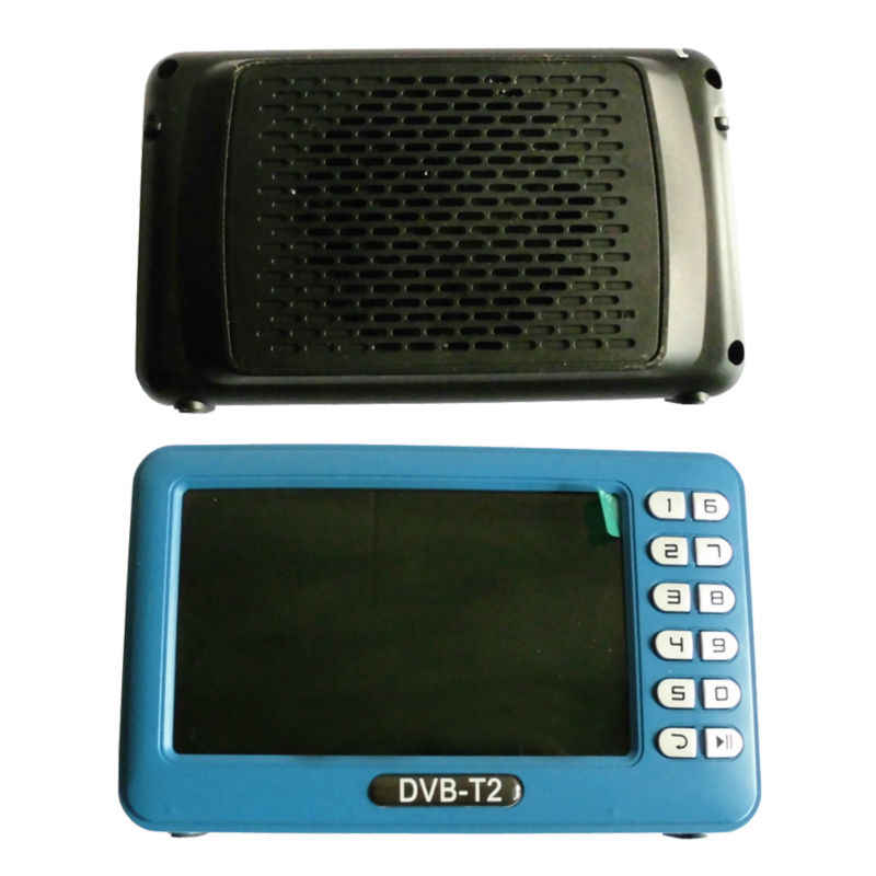 DVB T2 DVB T dvbt2 dvbt Mini TV Ontvanger Met Antenne 4.3 inch Lcd-scherm TV Player Box voor DVB-T2/DVB-T/FM Ondersteuning TF kaart