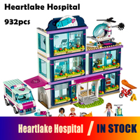 Models Building Blocks Toy 01039 Friends Girls Heartlake Hospital Kids Bricks Diy Toy Set Girl Gifts