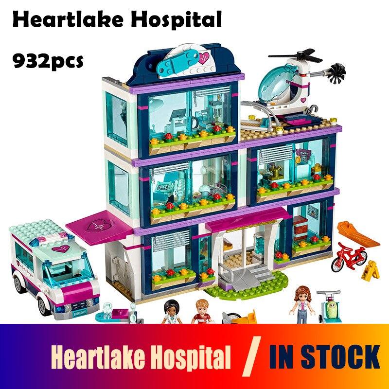 Модели здания игрушечные лошадки хобби 01039 Совместимость с Lego Конструкторы 41318 друзья Heartlake больницы дети Кирпичи diy девушка подарки